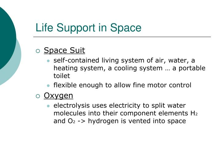 Life Support in Space