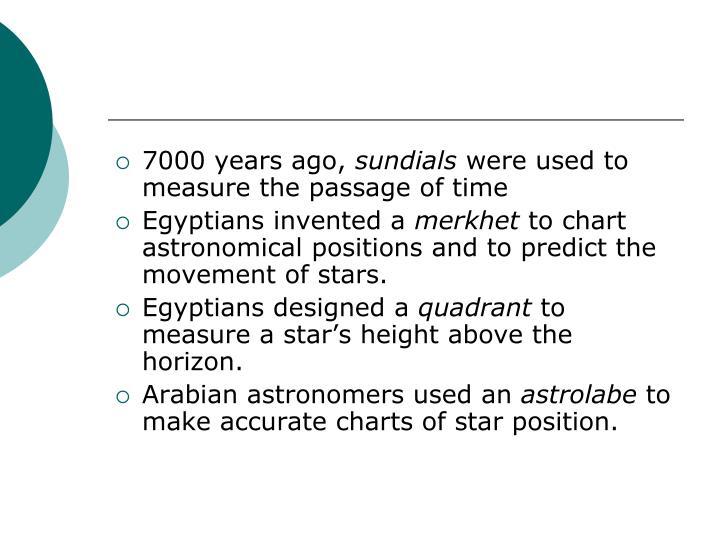 7000 years ago,