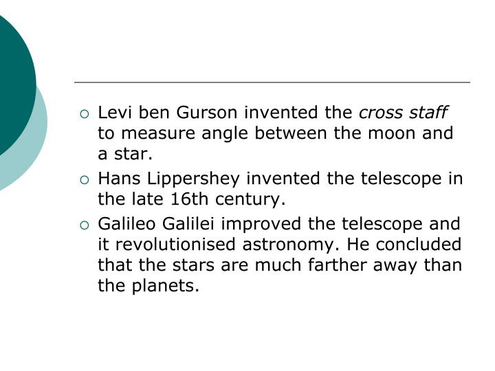 Levi ben Gurson invented the
