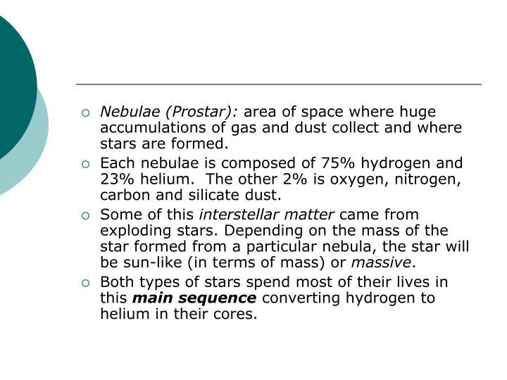 Nebulae (Prostar):