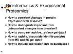 bioinformatics expressional proteomics