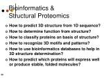bioinformatics structural proteomics