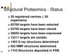 structural proteomics status