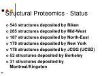 structural proteomics status1