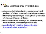 why expressional proteomics