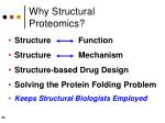 why structural proteomics