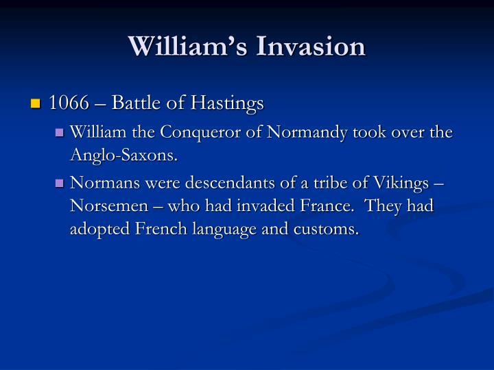 William s invasion