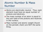 atomic number mass number1
