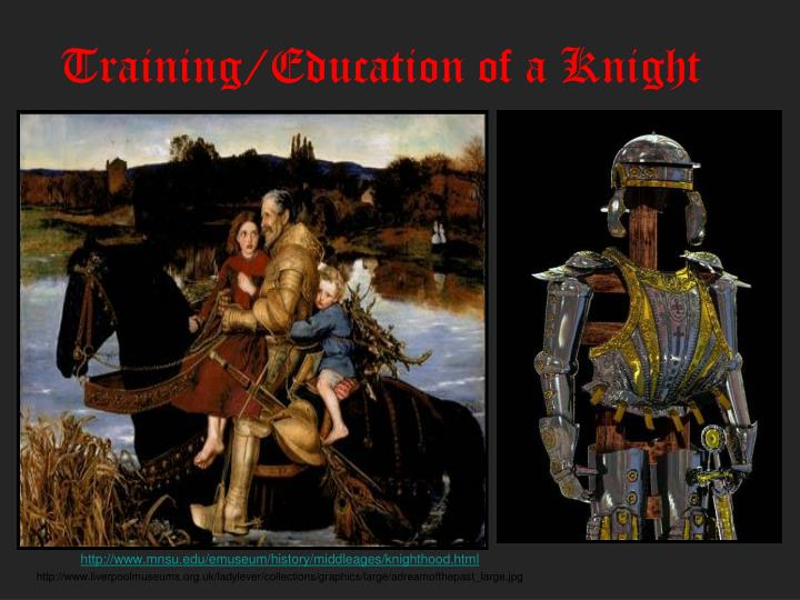 training education of a knight n.