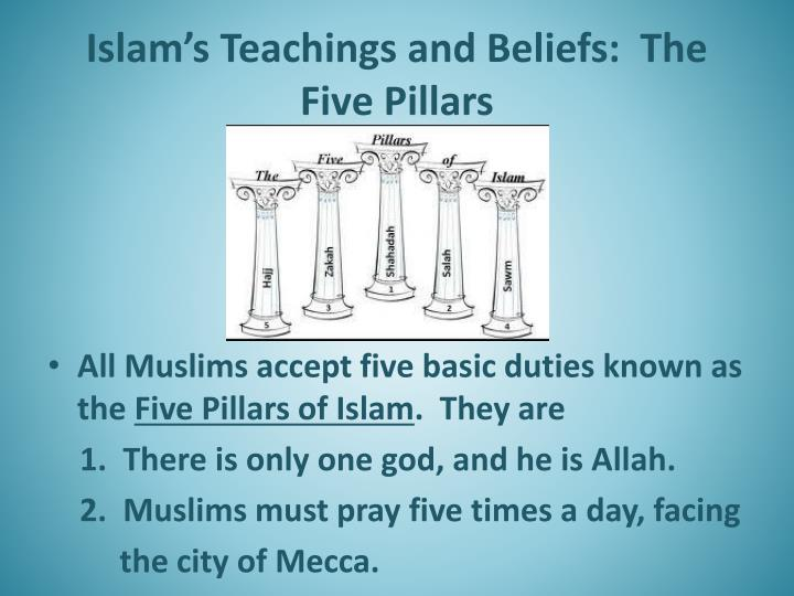 a study on the religion of islam and the muslim beliefs in allah From islam for dummies by malcolm clark  understanding islam begins with looking at the basic beliefs (five pillars of faith) and required rituals (five pillars of worship) of muslims as well as the different islamic sects that muslims may belong to.