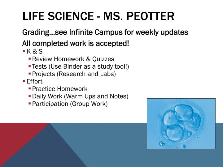 Life Science - Ms.