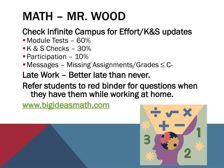 Math – Mr.