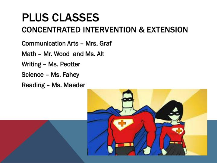 Plus classes