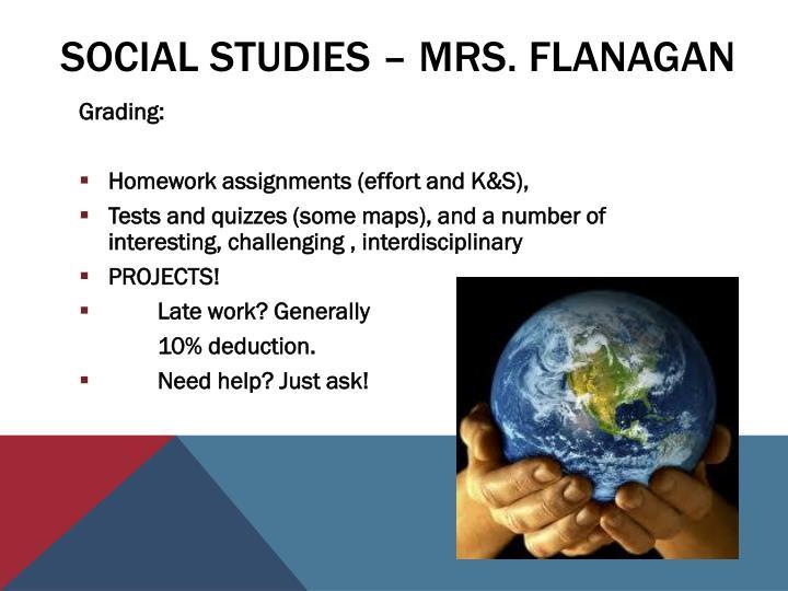 Social Studies – Mrs. Flanagan