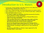 introduction to u s waters