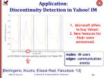 application discontinuity detection in yahoo im