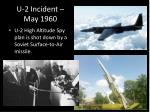 u 2 incident may 1960
