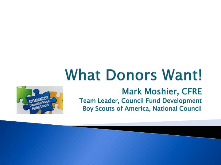what donors want n.