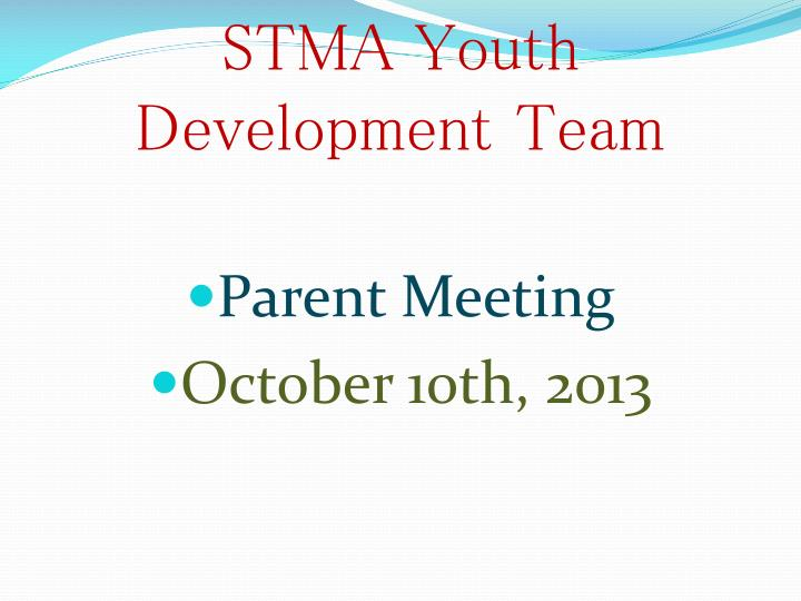 stma youth development team n.