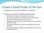 create a small poster of the sun