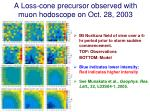 a loss cone precursor observed with muon hodoscope on oct 28 2003