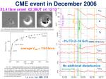 cme event in december 2006