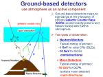 ground based detectors use atmosphere as an active component