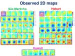 observed 2d maps