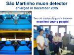 s o martinho muon detector enlarged in december 2005