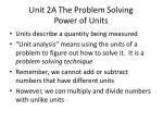 unit 2a the problem solving power of units