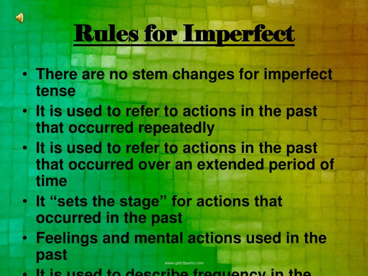 Rules for Imperfect