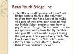 reno youth bridge inc