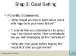 step 3 goal setting