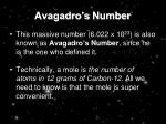 avagadro s number