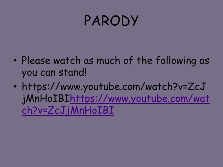 PARODY