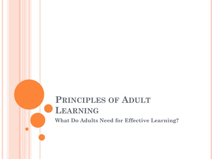 principles of adult learning n.