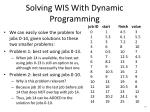 solving wis with dynamic programming2