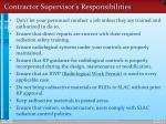 contractor supervisor s responsibilities