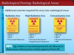 radiological posting radiological areas