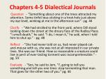 chapters 4 5 dialectical journals