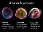 historical supernovae