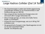 large hadron collider ziel 14 tev
