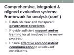 comprehensive integrated aligned evaluation systems framework for analysis cont1