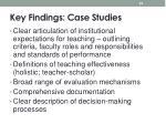key findings case studies1