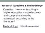 research questions methodology