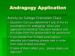 andragogy application
