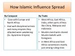 how islamic influence spread