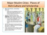 major muslim cities places of rich culture and scholarship