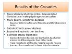 results of the crusades