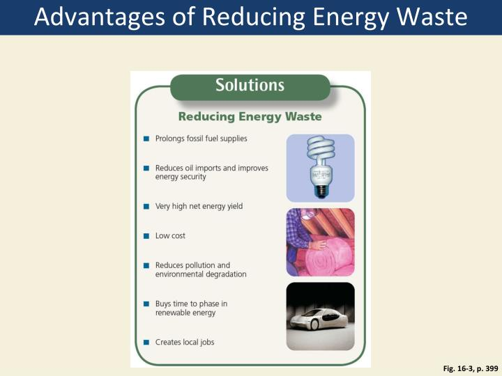 Advantages of Reducing Energy Waste
